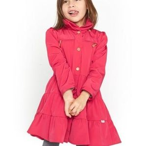 Oil & Water girls Twirl Raincoat in Berry